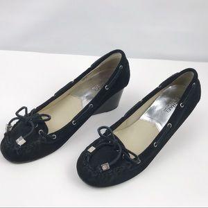 ⭐️Host Pick⭐️Michael Kors Black Suede Wedge Shoes